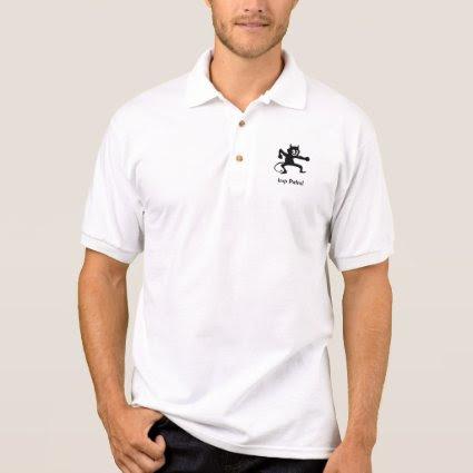 Embossed-look Balck Imp Shirt