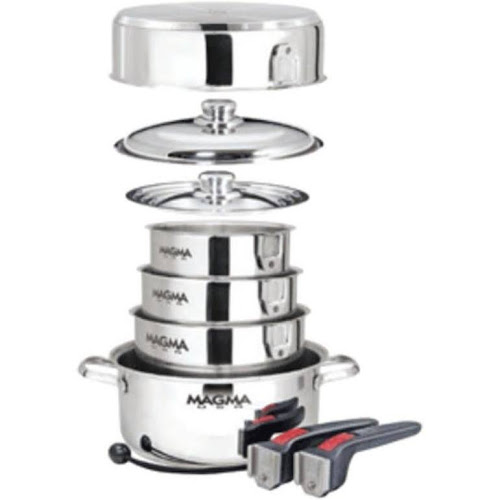 Magma A10-360L-IND Nestable 10 Piece Induction Cookware, Silver