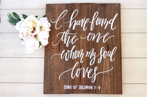I Have Found The One Whom My Soul Loves Sign, Song Of