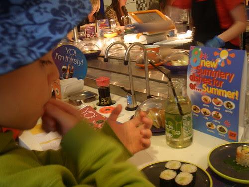 yo sushi at Harvey Nichols