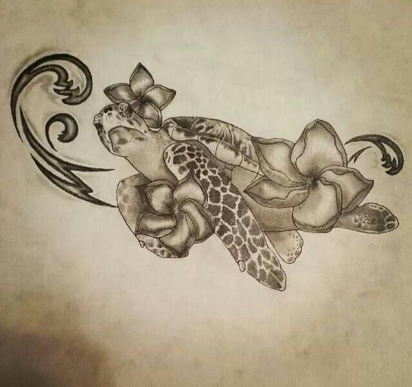 Cool Turtle Tattoo Design Sample