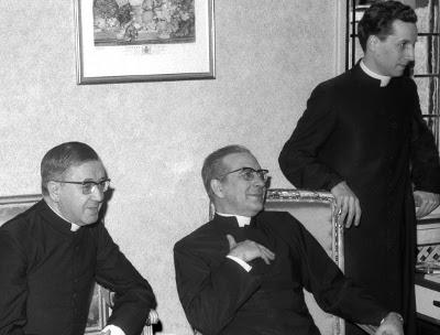 Don Javier fue 'custodio' de san Josemaría desde 1955. La foto es de 1968.