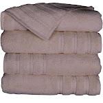 Premium Quality 100% Cotton Bath Towel - Set of 4 - Cream