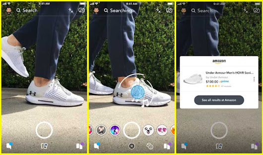 Snapchat is testing the Shopping Feature using its Camera - GoAndroid