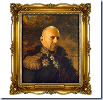 Bruce Willis as a Russian general