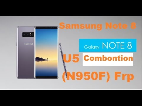 Samsung Note 8 N950f U5 Frp By Pass With Odin 100% Done
