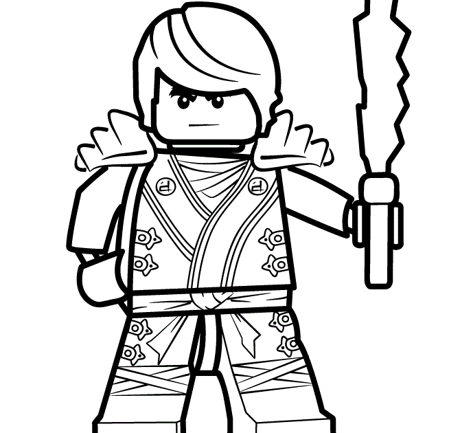 ausmalbild ninjago kostenlos  cartoonbild