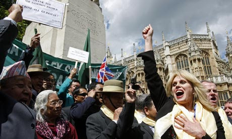 Joanna Lumley and Gurkha veterans react after being told all Gurkha veterans can settle in the UK