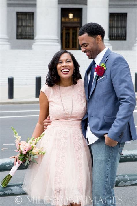 NY Courthouse Wedding; African American; Natural Hair