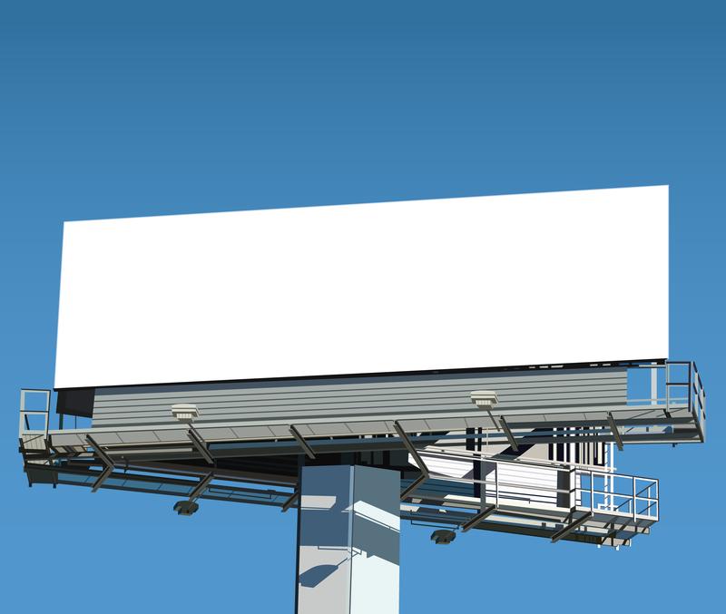 Realistic blank billboard template - Vector download