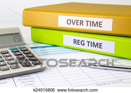 Stock Images of Daily time record with blank payroll time sheet ...