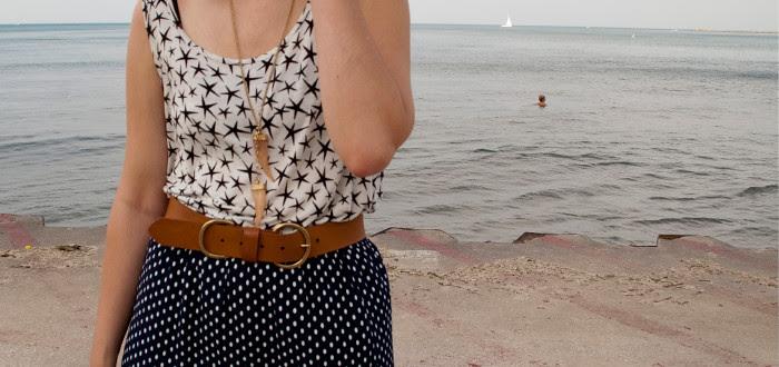 dash dot dotty, dashdotdotty, powerclashing, patternmixing, dots and stars, lake michigan, summertime