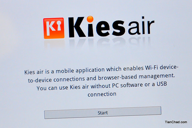 Samsung GALAXY Tab 7.7 Kies Air
