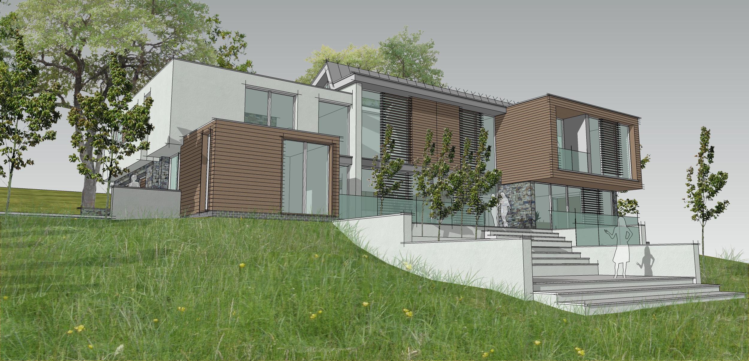 Contemporary house design progresses through feasibility