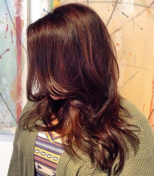 Warme Braune Haarfarben