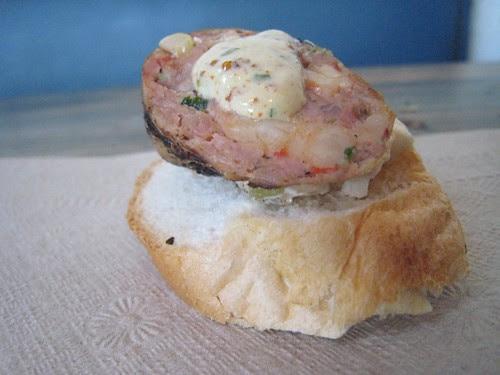 Crawfish & Pork sausage at Frank