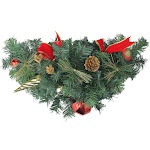 """Northlight 24"""" Pre-Decorated Red and Gold Ball Ornaments and Bows Artificial Christmas Swag - Unlit"""