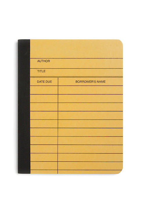Library Card literary composition notebook – Out of Print