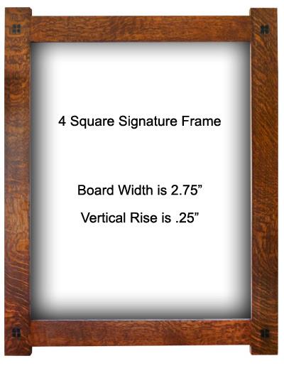 4 Square Quartersawn Oak Frame Option 3