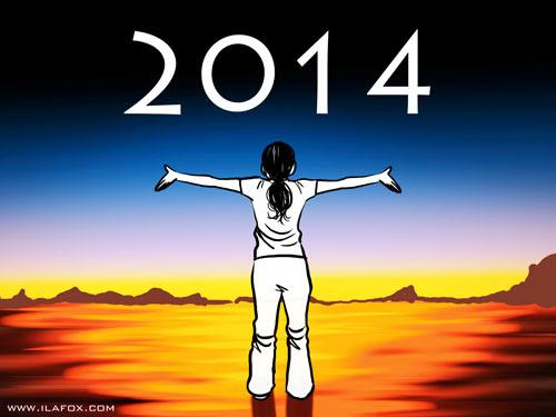 feliz 2014, feliz ano novo, desenho, by ila fox