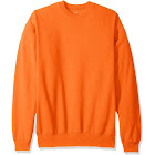 Hanes ComfortBlend EcoSmart Crew Sweatshirt, Safety Orange