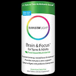 Rainbow Light Nutritional Systems - Brain & Focus Multivitamin for Teens & Adults - Food-Based Formula (90 Mini Tablets) - Children's Multivitamins