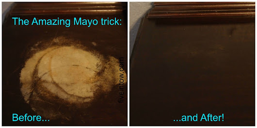 How to Fix Furniture with Mayo - Five in Tow