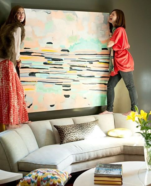La Petite Fashionista: Interior Design Trends: Abstract Art