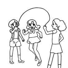 Dibujos Para Colorear Niñas Saltando A La Cuerda Eshellokidscom