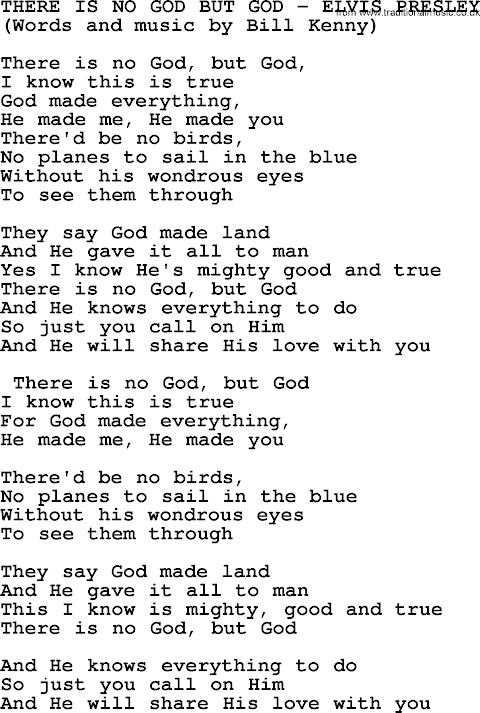 There Is A God Lyrics