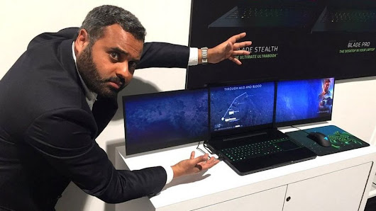CES 2017: Razer gaming laptop has not one but three screens - BBC News