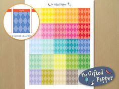 Erin Condren planner stickers [Printable], fit in the daily box ...