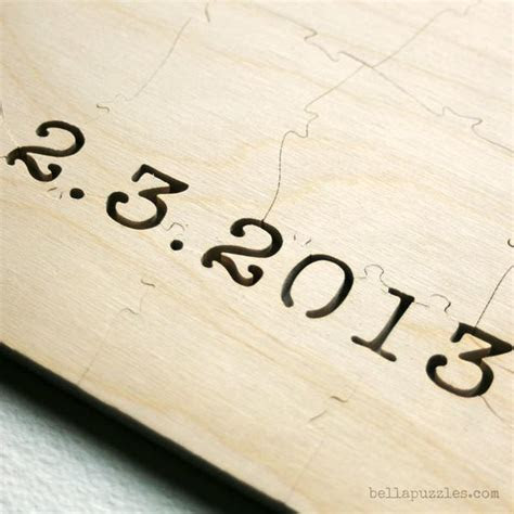 Wedding Guest Book Alternative ? Customized WOOD Puzzle