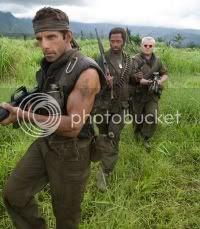 Tropic Thunder is starring Ben Stiller, Jack Black and Robert Downey Junior.