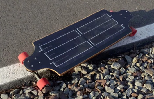 Solar Electric Skateboard - Unshootables