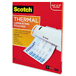 "Scotch Lamination pouches, 8.98"" x 11.46"", Clear - 100-pack"