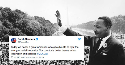 White House tweet tributes to Martin Luther King Jr. aren't going over well