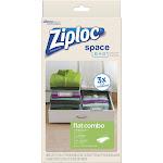 Ziploc Vacuum Seal Flat Combo Space Bag, 3-Pack 70424