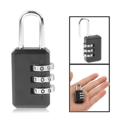 [$0.95] 3 Digit Resettable Combination Security Travel Lock(Black)