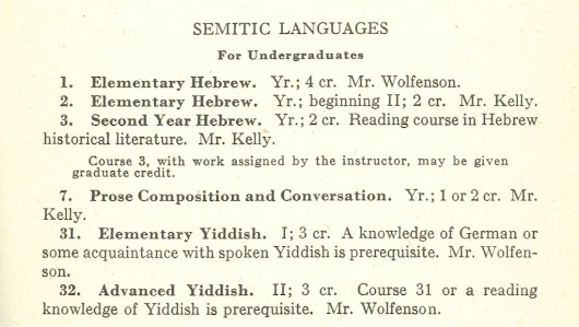 A century on, celebrating the first Yiddish-language college course