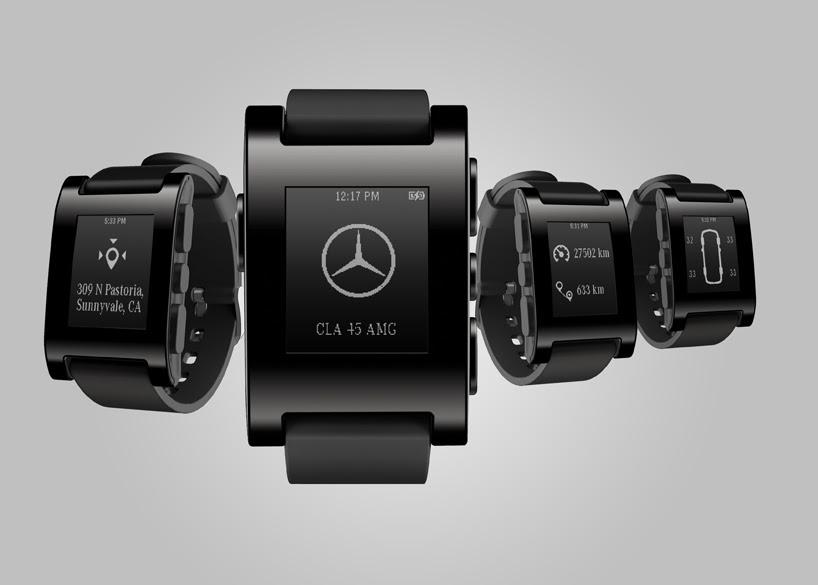 mercedes-benz announces pebble smartwatch partnership