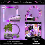 Clusters Frame - Back To School