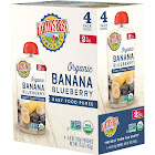 Earth's Best Organic Baby Food, Banana Blueberry - 4 pouches, 4 oz each