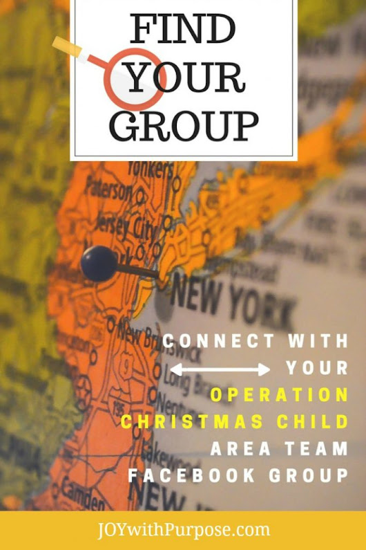 Find Your Operation Christmas Child Area Team Facebook Group - Joy with PURPOSE