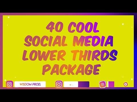 🔔 40 Trendy! Social Media Lower Thirds Alpha Channel | Instagram | TikTok | Discord