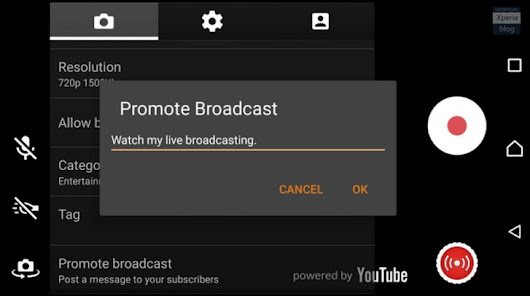 Sony Updates 'Live On YouTube' Xperia-Exclusive Live Broadcasting App With Pause, Mute, Tags, And More