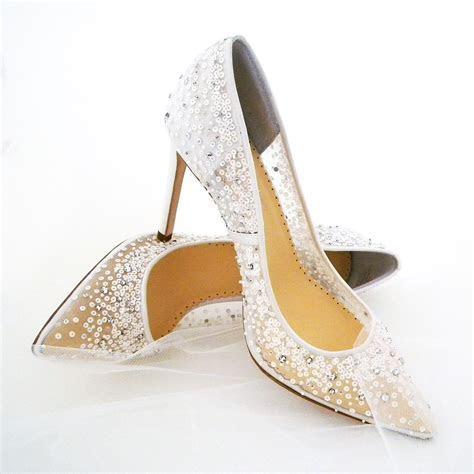 Bella Belle Elsa Wedding Shoes   Ivory, Sequin Bridal Shoes