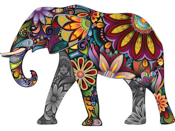 Vinilo Decorativo Elefante Hindu