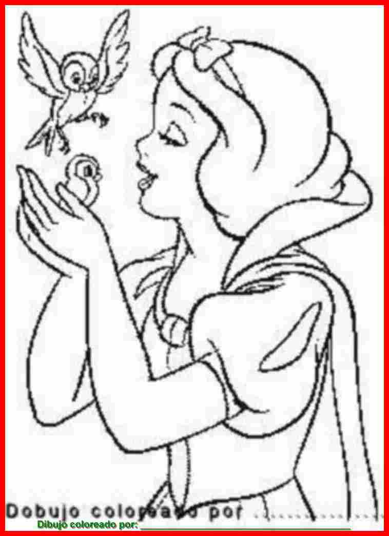 Dibujo De Blancanieves Para Colorear E Imprimir