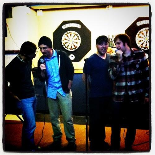the Beach Boys at karaoke